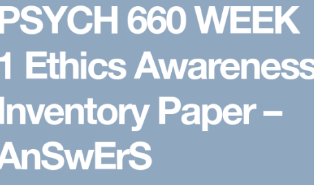 Details: Write a 1,050- to 1,250-word summary of your findings. Address the following: Explain the importance of understanding your personal ethical perspective. Analyze the relationship between personal and professional ethics in psychology.Discuss how the APA decision-making process facilitates more ethical professional behavior.Describe how your ethical awareness inventory scores relate to the concept of aspirational and enforceable standards. analyze the relationship between personal and professional ethics in psychology, importance of personal ethics in business, personal ethics examples, principles of personal ethics, importance of ethics in life, personal code of ethics examples, importance of ethics in personal life, personal ethics wikipedia, williams institute ethics awareness inventory, ethical awareness inventory scores relate to the concept of aspirational and enforceable standards,